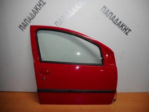 Citroen C1/Peugeot 107/Toyota Aygo 2006-2014 πόρτα εμπρός δεξιά κόκκινη