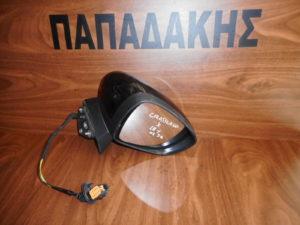 Opel Crossland X 2018-> ηλεκτρικά ανακλινόμενος καθρέπτης δεξιός μαύρος 7 καλώδια
