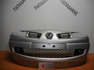 Renault Megane/Megane Cabrio 2006-2010 εμπρός προφυλακτήρας ασημί