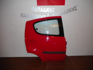 citroen c1 peugeot 107 2006 2014 porta piso kokkini dexia 300x225 Citroen C1/Peugeot 107 2006 2014 πόρτα πίσω δεξιά κόκκινη