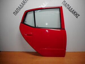 Hyundai i10 2008-2014 πίσω δεξιά πόρτα κόκκινη