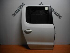VW P/U Amarok 2010-2016 πόρτα πίσω δεξιά άσπρη
