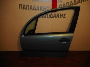 Citroen C3 2002-2009 εμπρός αριστερή πόρτα γαλάζια