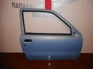Fiat Seicento 1998-2007 πόρτα δύπορτη δεξιά γαλάζια ηλεκτρική