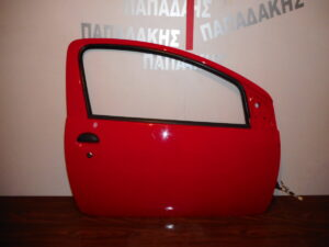Toyota Aygo/Citroen C1/Peugeot 107 2006-2014 πόρτα δεξιά δύθυρη κόκκινη