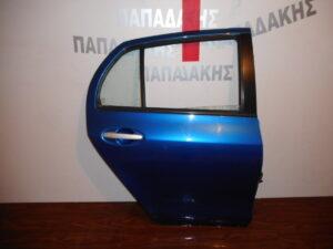 Toyota Yaris 2006-2011 πίσω δεξιά πόρτα μπλε